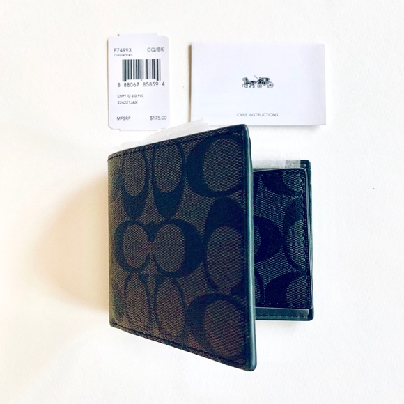 Coach Other - NEW COACH F74993 Compact ID Leather Wallet